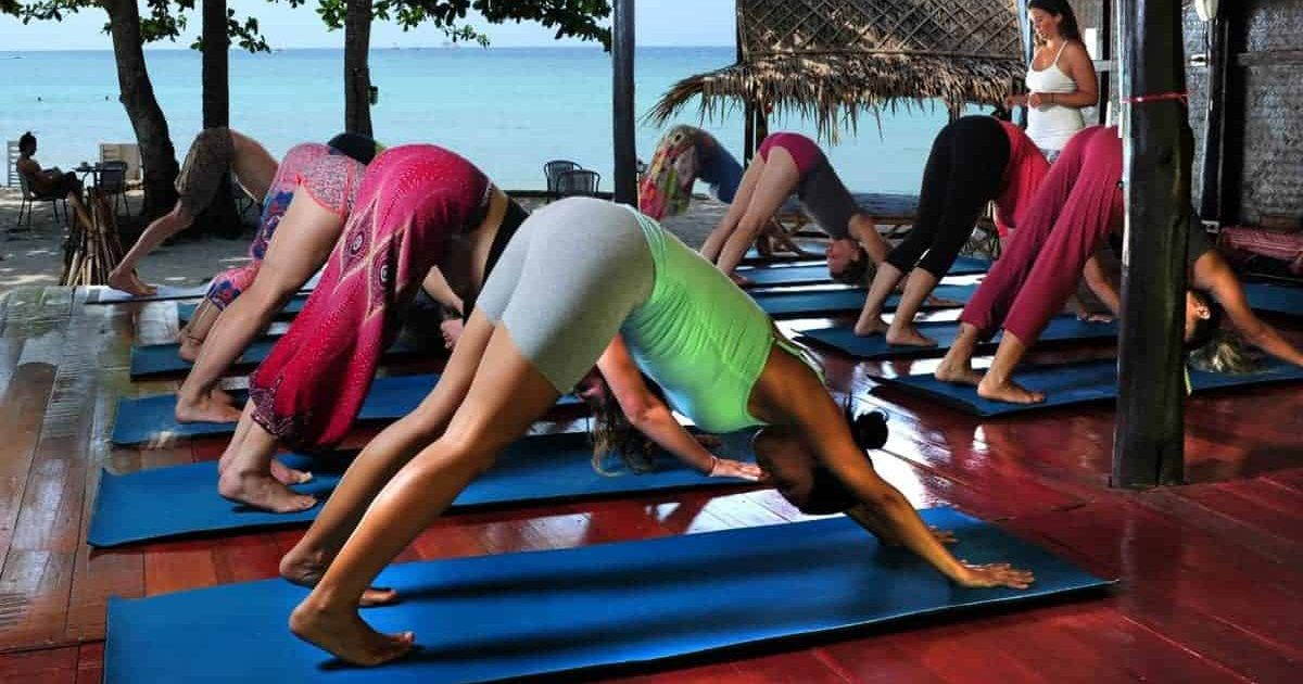 Yoga with a sea view
