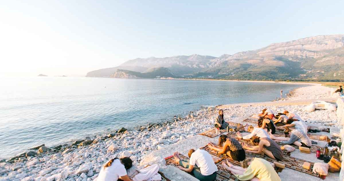 Yoga retreat mountains sea